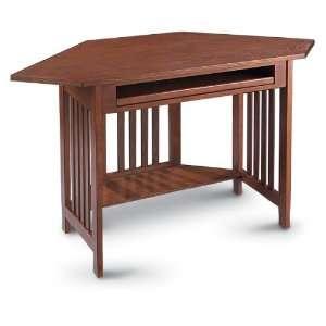 Small computer desk mission style on popscreen - Small oak corner computer desk ...