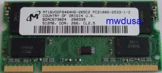 512MB DDR PC2100 Sodimm 200 pin Laptop Notebook memory