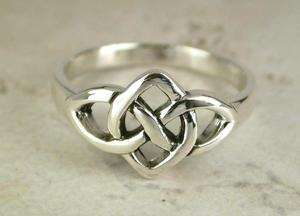 CUTE .925 STERLING SILVER CELTIC KNOT RING size 10