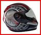 Motorcycle Full Face Helmet DOT Red   MEDIUM