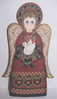 DECORATIVE PAINTING Christmas Wood Angel NEW PATTERN
