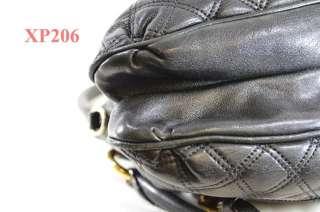 MARC JACOBS SM CECILIA QUILTED BLACK SATCHEL BAG $995