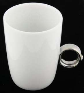Swarovski Crystal & Silver Ring Coffee Cup Mug by Fred & Friends 3.75