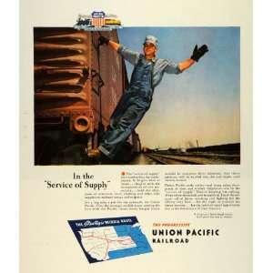 Ad Union Pacific Railroad Train Engineer Locomotive Strategic Middle