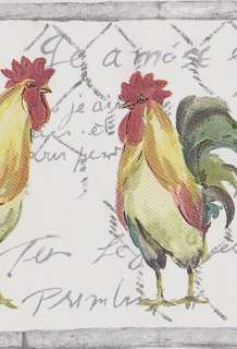 French Country ROOSTERS Wallpaper Border Sale