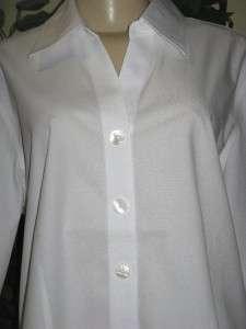 75 Coldwater creek white no iron shirt top plus 1X2X3X