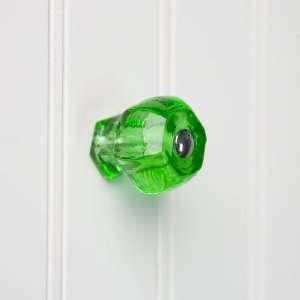 Medium Emerald Green Glass Cabinet Knob