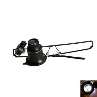Eye Jeweler Watch Repair 20X Magnifier Magnifying LED Light Glass