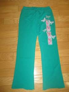 NWT ARIZONA GIRLS 10 Green * LOVE * Sweat PANTS Comfy