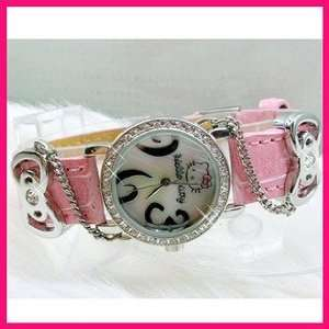 Hello Kitty Diamante Style Ladies Fashion Wrist Watch in Pink Color