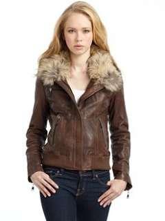 Andrew Marc   Blake Leather Bomber Jacket