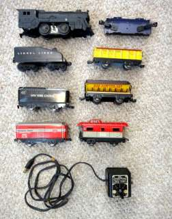 O27 GAUGE MODEL TRAIN CARS+ENGINE+TRANSFORMER metal lionel NYC