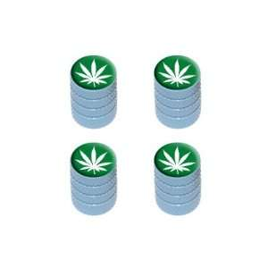 Marijuana Leaf   Weed Pot Tire Valve Stem Caps   Light