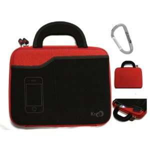 Red Laptop Bag Hard Case for 10 inch HP DreamScreen 100 Tablet + An