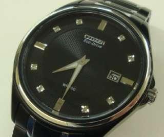 Citizen Eco Drive Mens Watch Bracelet J165 S070091 Black Eco Drive