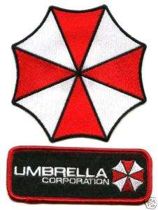 RESIDENT EVIL RACOON CITY UMBRELLA CORPORATION LOGO NAME TAG 2 PATCH