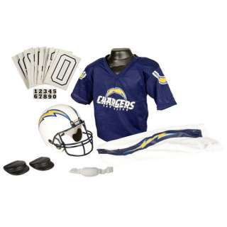 San Diego Chargers Kids/Youth/Boys Deluxe Football Helmet/Jersey/Pants