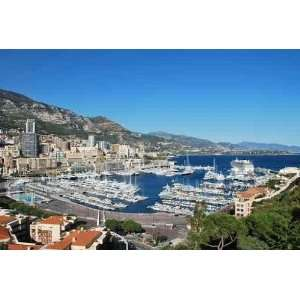 Landscape View of Monaco Harbor with Yachts   Peel and