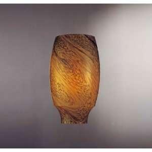 George Kovacs Amber Art Glass 12 High Wall Sconce