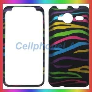 HTC Evo Shift 4G Rainbow Zebra Hard Case Phone Cover