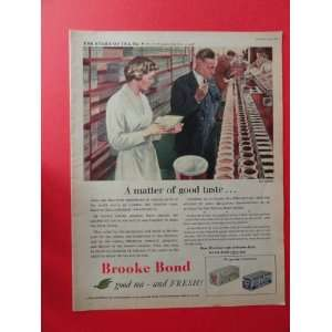 Brooke Bond Tea,1955 Print Ad. (a matter of good taste