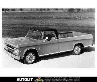 1969 Dodge D100 Pickup Truck Factory Photo