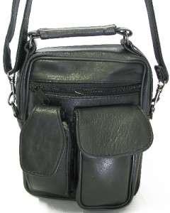Leather Purse Waist Shoulder Travel Camera Bag Cell Phone Holder NWT