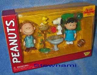 Peanuts PIG PEN SNOOPY w/ WOODSTOCK & LUCY Figure Set Charles Schultz