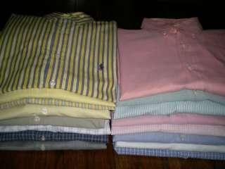 C02 Mens $1785 Ralph Lauren Oxford Polo Shirt Lot of 16 XL 17 17.5