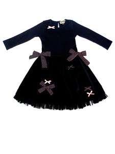 Sophie Catalou Black Long Sleeve Coco Dress Sizes 18M 6