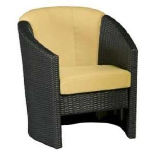Riviera Harvest Fabric Outdoor Barrel Accent Chair