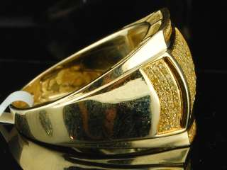 Gold Canary Yellow Diamond Pinky Ring Engagement Wedding Band