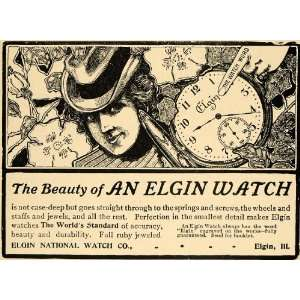1903 Ad Elgin National Watches Antique Pocket Watch IL