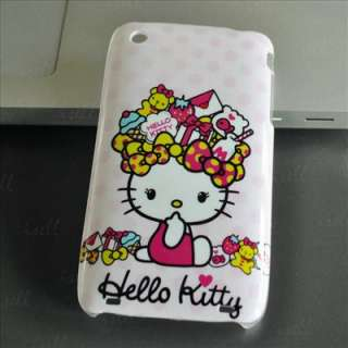 Hello Kitty Lovely cute hard back Case Cover skin for Apple iPhone3 3G