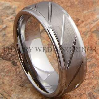 Tungsten Carbide Ring Love Mens Wedding Band Titanium Color Jewelry
