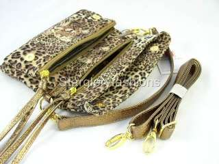 Multi Functions Leopard Print Handbag Purse Four Uses CHL 09236