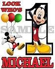 Personalized Mickey Mouse Birthday T Shirt Any Name Any Age
