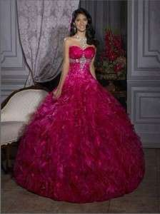 New Elegant Quinceanera Prom Dress Wedding Evening Formal Ball Dresses