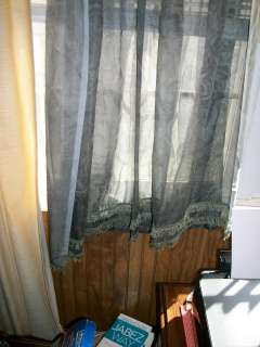 SAGE GREEN SHEER WINDOW PANELS IN GREAT CONDITION..