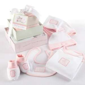 Baby Pink Patty Cake Six Piece Layette Set in Gift Tower