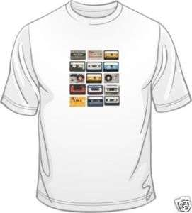 Cassettes Retro Old Skool 80s Classic Funny Mens T Shirt Free Post U