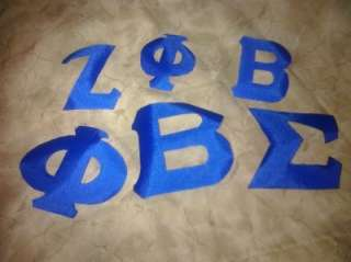 ZETA PHI BETA SIGMA Iron on Greek Letters for Sorority or Fraternity