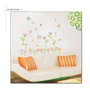 ] Lovely Flowers & Butterfly Nursery Kids Wall Decor