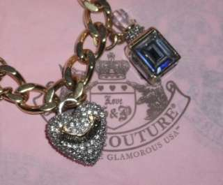 Juicy Couture Charmed Bracelet Gold Plated Watch NWT $495 RARE 6