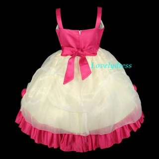 NEW Flower Girl Wedding Pageant Party Dress Outfit Children Wear Sets