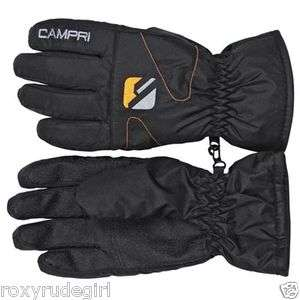 CAMPRI Ski Snowboard Gloves Thermal Winter Snow Guantes Gants BLACK RP