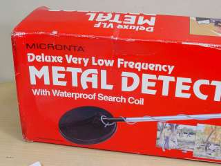 MICRONTA 4003 DELUXE VLF DISCRIMINATOR METAL DETECTOR WITH BOX