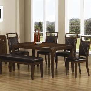 China Grove Semi Formal Dining Table in Dark Oak