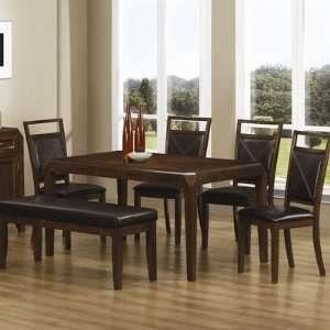China Grove Semi Formal Dining Table in Dark Oak