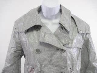 ANDREW MARC Gray Faux Snake Skin Jacket Coat Sz M